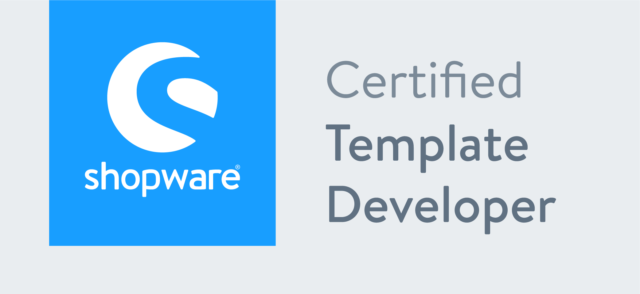 NetzKombyse ist SHOPWARE Certified Template Developer